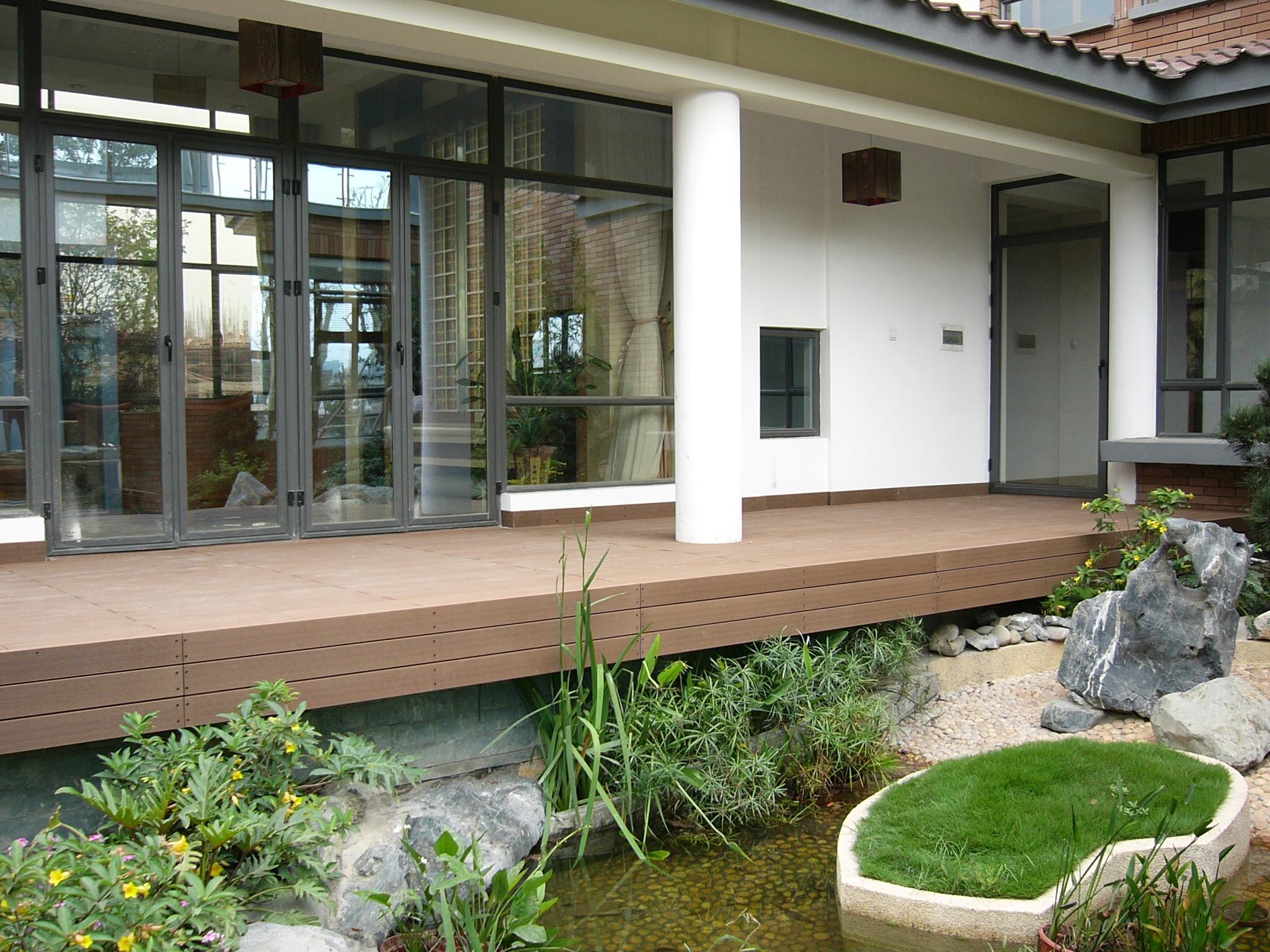 生态木耐可木户外厨柜案例;塑木样板景观;塑木地板地板遵义塑木商广东材料门定制厂图片