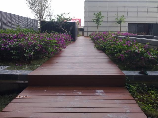 楼顶花园走道
